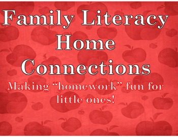 """Alphabet, Numbers, Shapes, & Color Speed Drills:""""Family Early Literacy Homework"""""""