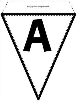Alphabet, Numbers, Symbols, and a Blank Spacer Pennant