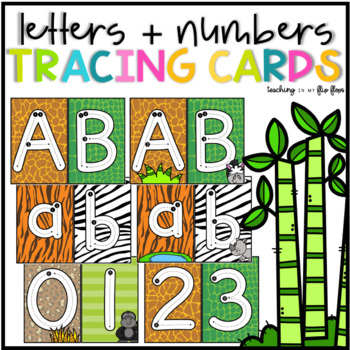 Alphabet & Numbers Tracing Cards - Safari