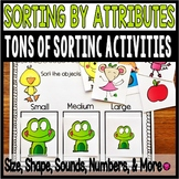 Sorting By Attributes Activities and Center for PreK and Kindergarten
