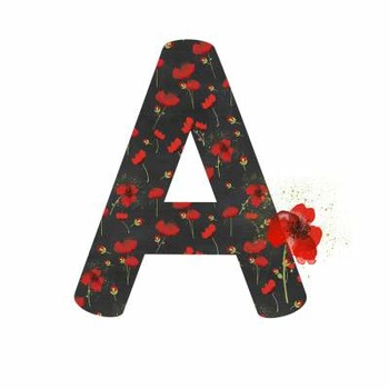 Alphabet Numbers and Symbols- Poppy