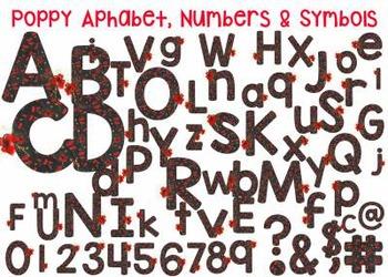 Alphabet Numbers and Symbols- Poppy