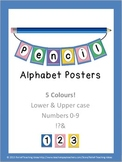 Alphabet & Numbers for Pennants, Banners, Bulletin Board Displays - Pencil Theme