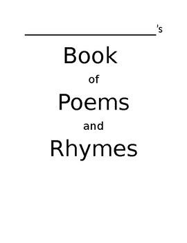 Alphabet Nursery Rhyme Book