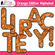 Orange Glitter Alphabet Clip Art {Glitter Meets Glue}