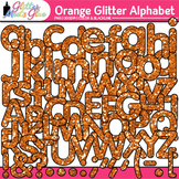 Orange Glitter Alphabet Clip Art {Great for Classroom Deco