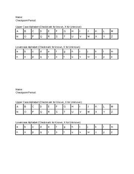 Alphabet Observation Form