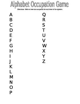 Alphabet Occupation Game