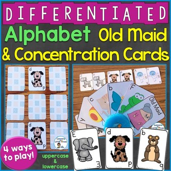 Alphabet Old Maid & Concentration Cards (Uppercase & Lowercase Letters)