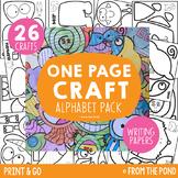 Alphabet One Page Craft Bundle {Print & Go Crafts + Writin