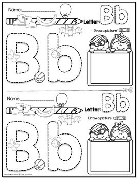 Alphabet One Page ( two printables )