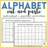 Alphabet Order Cut and Paste Individual or Partner Activity | Kindergarten