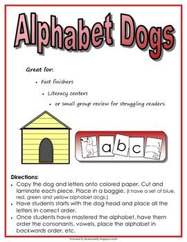 Alphabet Order Dog Cards