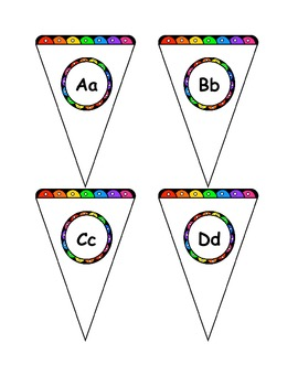 Alphabet Order Flag - Decorations and Centers