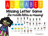 Super Hero Alphabet Order Game {Missing Letter: Middle Letter}