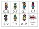 Super Hero Alphabet Order Game {Missing Letter: Middle Letter}