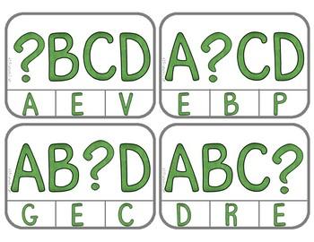 Alphabet Order:  What's Missing?  Uppercase