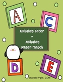 Alphabet Order and Alphabet Match Fun