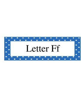 Alphabet Organization Binders