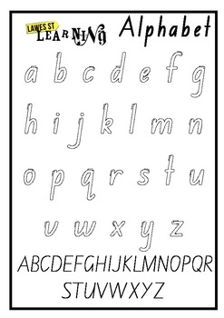 Alphabet Outline Foundation Font