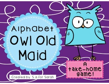 Alphabet Owl Old Maid Take-Home Game