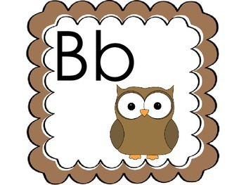 Alphabet Owl Theme