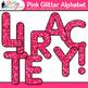 Pink Glitter Alphabet Clip Art | Great for Classroom Decor & Resources