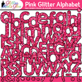 Pink Glitter Alphabet Clip Art {Great for Classroom Decor