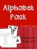 Alphabet Pack! 58 worksheets, 26 clip cards