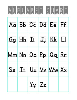 Alphabet Pack: Chart FREEBIE