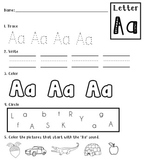 Alphabet Packet {Trace, Write, Color}