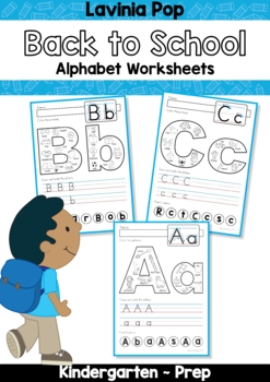 Alphabet Pages for Back to School