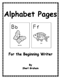 Alphabet Pages for the Beginning Writer