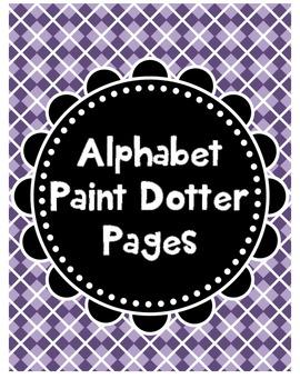 Alphabet Paint Dotter Pages