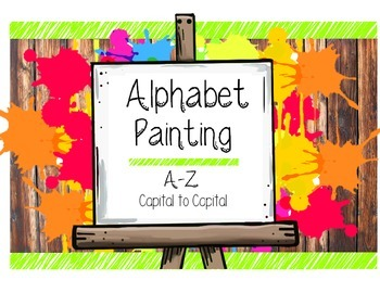 Alphabet Painting Capital Letter Recognition & Writing Wor