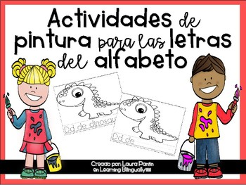 Alphabet Painting Pages in Spanish