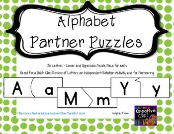 Alphabet Partner Puzzles