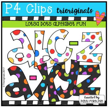 Alphabet LOTSA DOTS {P4 Clips Trioriginals Digital Clip Art}