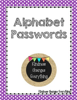 Alphabet Password Cards