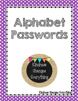 Alphabet Password Cards
