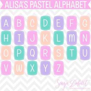 Pastel Clip Art Alphabet