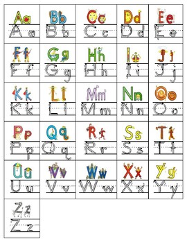 Alphabet Path of Motion