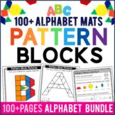 Alphabet Pattern Block Activity Mats & Worksheets