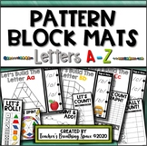 Alphabet Pattern Block Mats --- Uppercase & Lowercase Letters Included!