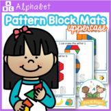 Alphabet Pattern Block Mats (uppercase)