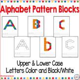 Alphabet Pattern Block Puzzles