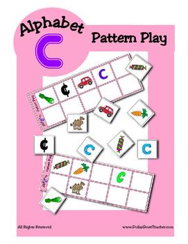 Alphabet Patterning Play Game ~ Literacy / Reading Center for Letter C