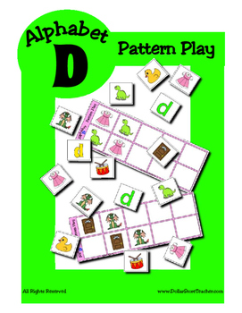 Alphabet Patterning Play Game ~ Literacy / Reading Center for Letter D