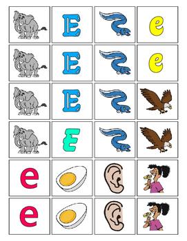 Alphabet Patterning Play Game ~ Literacy / Reading Center for Letter E