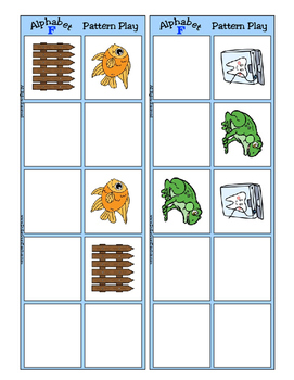 Alphabet Patterning Play Game ~ Literacy / Reading Center for Letter F